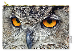Great Horned Owl Closeup Carry-all Pouch