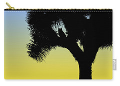Great Horned Owl In A Joshua Tree Silhouette At Sunrise Carry-all Pouch