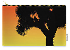 Great Horned Owl In A Joshua Tree Silhouette At Sunset Carry-all Pouch