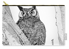 Great Horned Owl In A Tamarisk Carry-all Pouch