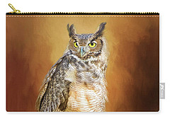 Great Horned Owl In Autumn Carry-all Pouch