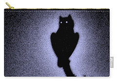 Great Horned Owl In The Desert 4 Carry-all Pouch