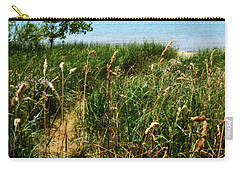 Carry-all Pouch featuring the photograph Great Lake Beach Path by Michelle Calkins
