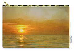 Carry-all Pouch featuring the digital art Great Lakes Setting Sun by Michelle Calkins