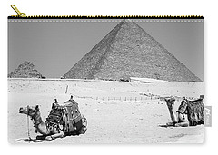 Carry-all Pouch featuring the photograph great pyramids of Giza by Silvia Bruno