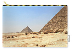 Carry-all Pouch featuring the photograph Great Pyramids Of Gizah by Silvia Bruno