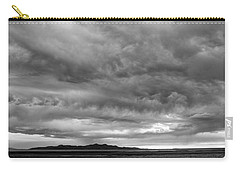 Great Salt Lake Clouds At Sunset - Black And White Carry-all Pouch