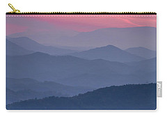 Great Smoky Mountain Sunset Carry-all Pouch by Teri Virbickis