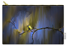 Carry-all Pouch featuring the photograph Great Tit On Branch #h3 by Leif Sohlman