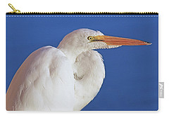 Carry-all Pouch featuring the photograph Great White Egret Bird Portrait by Jennie Marie Schell