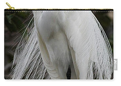 Great White Egret Windblown Carry-all Pouch by Sabrina L Ryan