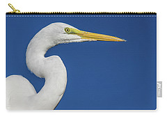Carry-all Pouch featuring the photograph Great White Heron by Louise Lindsay