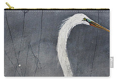 Great White Heron Original Art Carry-all Pouch
