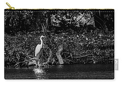 Great White Heron Carry-all Pouch by Ray Congrove