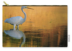 Great White On Gold Carry-all Pouch