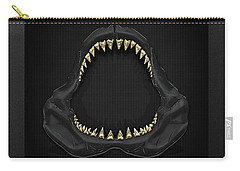Great White Shark Jaws With Gold Teeth  Carry-all Pouch