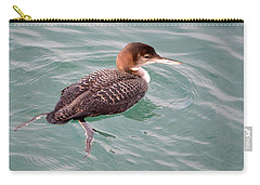 Carry-all Pouch featuring the photograph Grebe In The Water by AJ Schibig