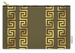 Greek Gold Pattern - Chuck Staley Carry-all Pouch by Chuck Staley