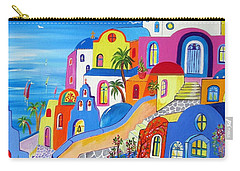 Greek Islands Fantasy Village Santorini Carry-all Pouch