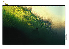 Green And Black Carry-all Pouch