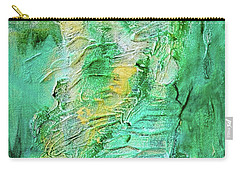 Green And Gold Abstract Carry-all Pouch