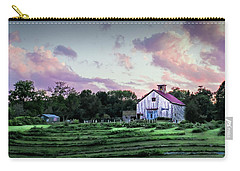Green And Magenta Farm Sunset Carry-all Pouch