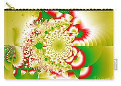 Green And Yellow Collide Carry-all Pouch