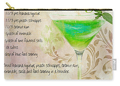 Green Angel Mixed Cocktail Recipe Sign Carry-all Pouch by Mindy Sommers
