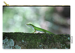 Green Anole Posing Carry-all Pouch