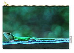 Green Anole Lizard Carry-all Pouch