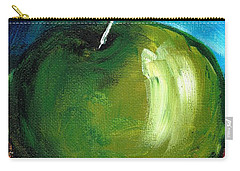 Carry-all Pouch featuring the painting Green Apple by Jolanta Anna Karolska