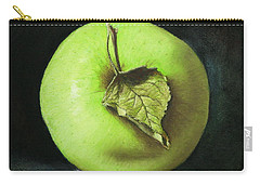 Green Apple With Leaf Carry-all Pouch