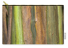 Carry-all Pouch featuring the photograph Green Bark 3 by Werner Padarin