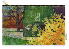 Carry-all Pouch featuring the painting Green Barn by Hailey E Herrera