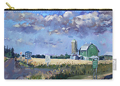 Green Barn In Glen Williams On Carry-all Pouch by Ylli Haruni