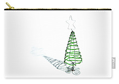 Green Bead Christmas Tree II Carry-all Pouch