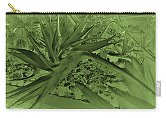 Carry-all Pouch featuring the photograph Green Bird Of Paradise by Nareeta Martin