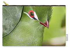 Green Turaco Bird Portrait Carry-all Pouch