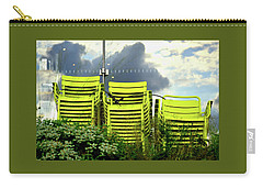 Green Chairs. Carry-all Pouch by David Gilbert