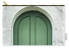 Green Church Door Iv Carry-all Pouch