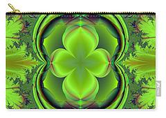 Carry-all Pouch featuring the digital art Green Clover by Svetlana Nikolova