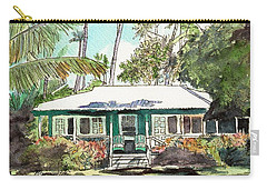 Green Cottage Carry-all Pouch by Marionette Taboniar