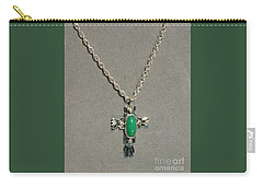 Carry-all Pouch featuring the photograph Green Cross by Marie Neder