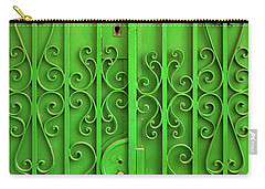 Carry-all Pouch featuring the photograph Green Door by Carlos Caetano