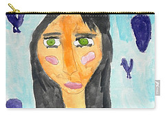 Green Eyes Carry-all Pouch by Artists With Autism Inc