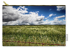 Carry-all Pouch featuring the photograph Green Fields by Douglas Barnard