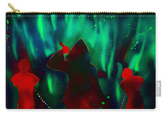 Green Flames In The Night Carry-all Pouch