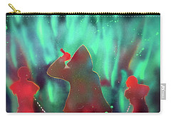 Green Flames Carry-all Pouch