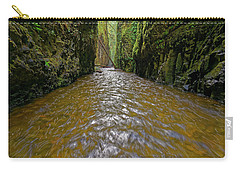 Carry-all Pouch featuring the photograph Green Flow by Jonathan Davison