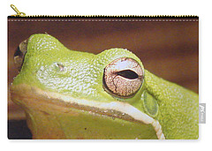 Green Frog Carry-all Pouch by J R Seymour
